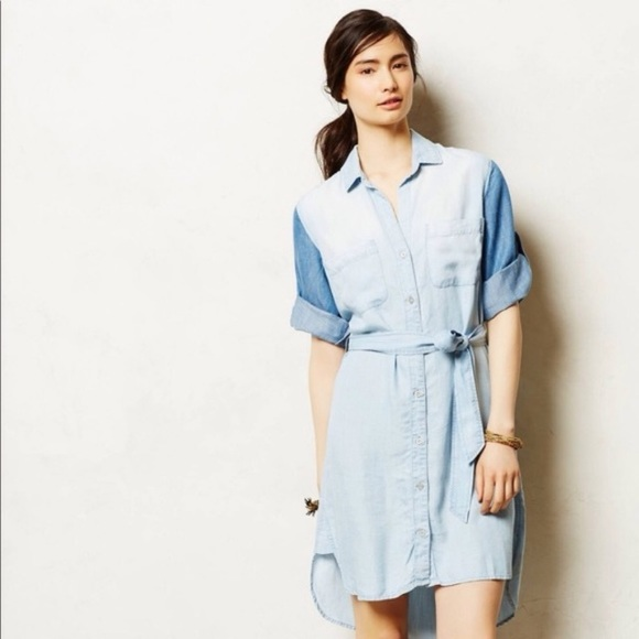 94d618dda9df cloth & stone Dresses   Anthropologie Cloth And Stone Chambray Dress ...